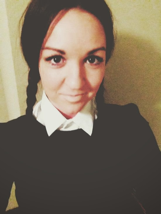 diy halloween costume - wednesday addams