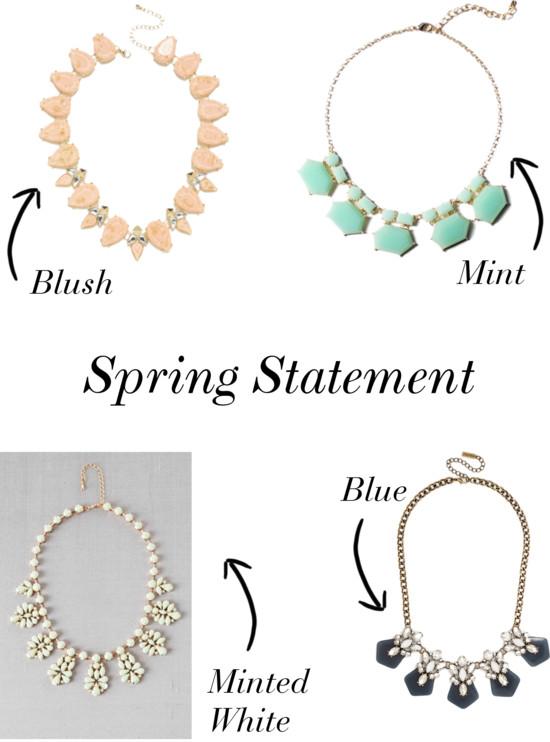 Spring Statement Pieces