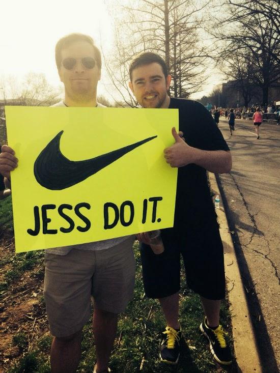 half marathon running signs