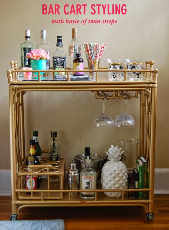 How To Style A Home Fit For A Family: How To Style A Bar Cart