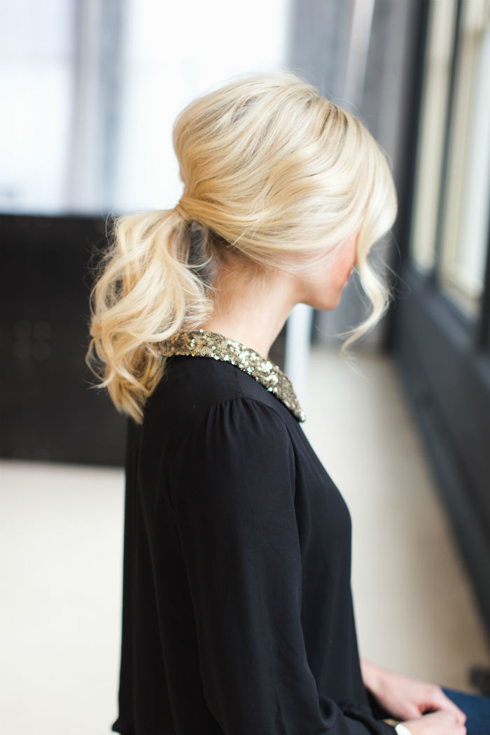 chic ponytail how-to