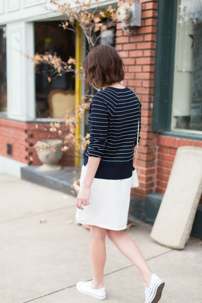 striped @LOFTsweater and @jcrew skirt | @Jessicazimlich