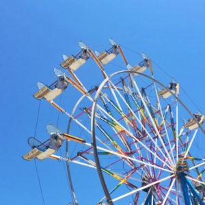 sunny ferris wheel rides