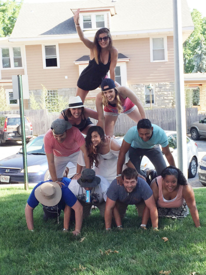 the human pyramid, a real classic