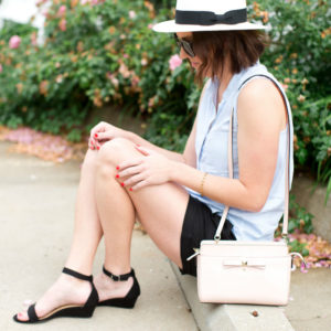 black linen shorts and sandals from @oldnavy