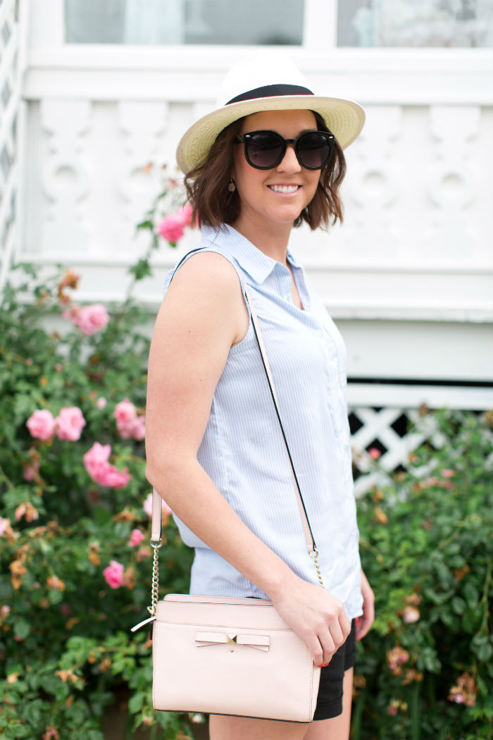 @madewell panama hat and big sunglasses