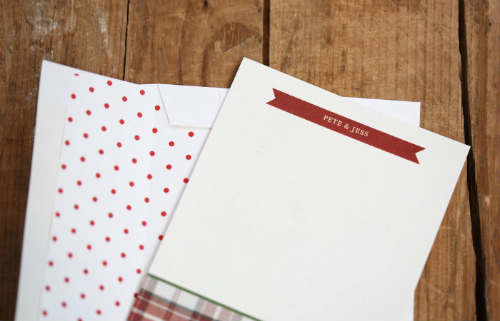 plaid thank you note cards | @jessicazimlich