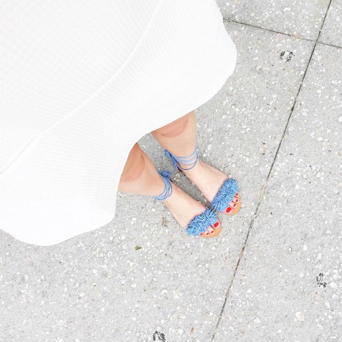 LWD + fringe sandals