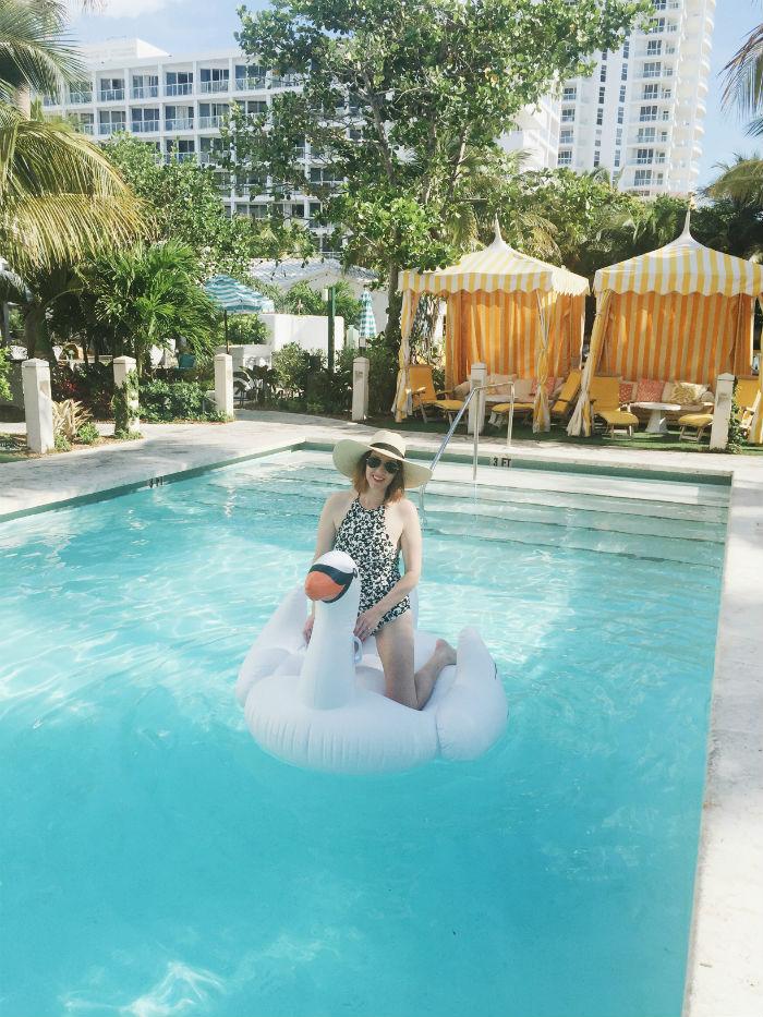 swan floatie