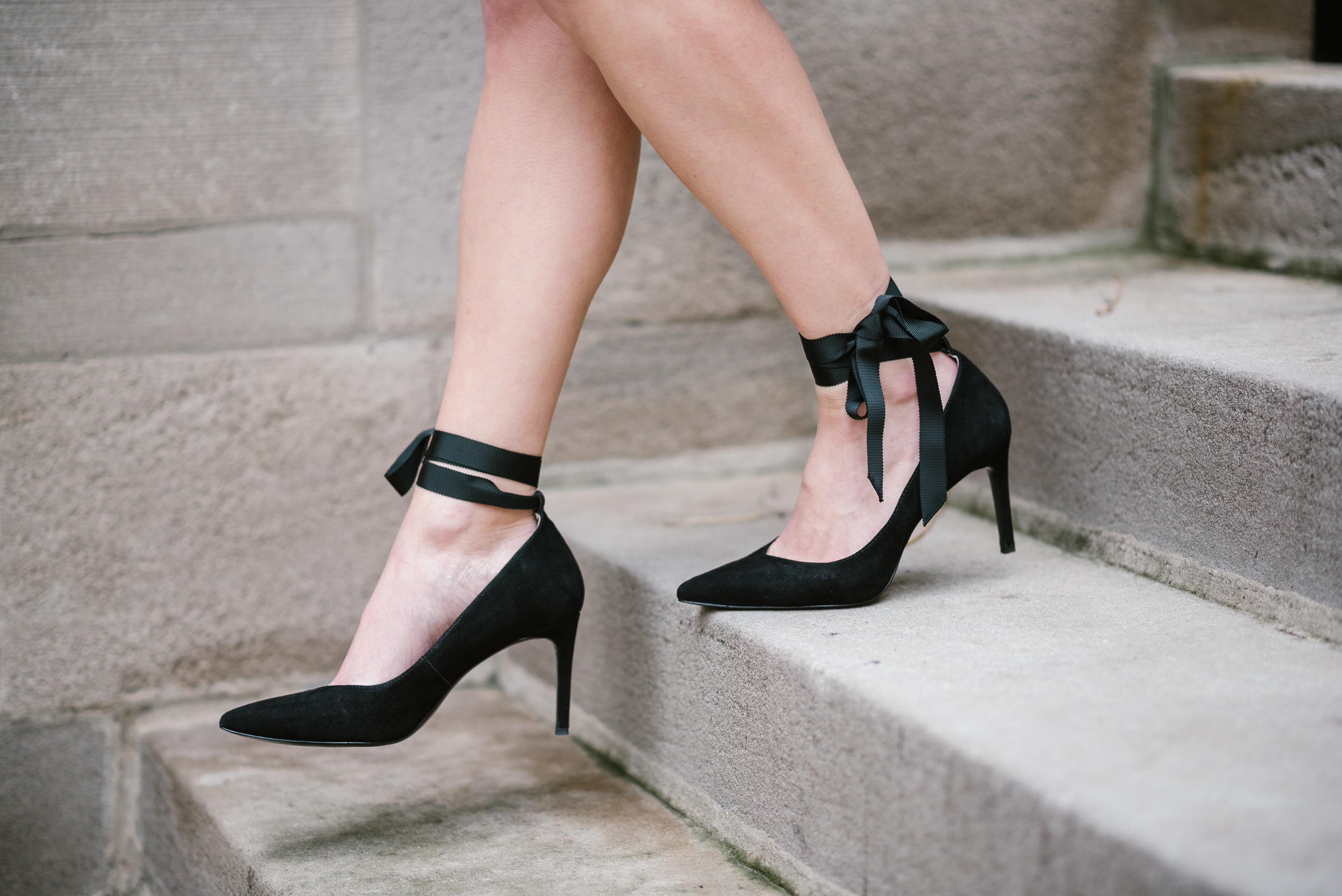 ribbon-tie heels