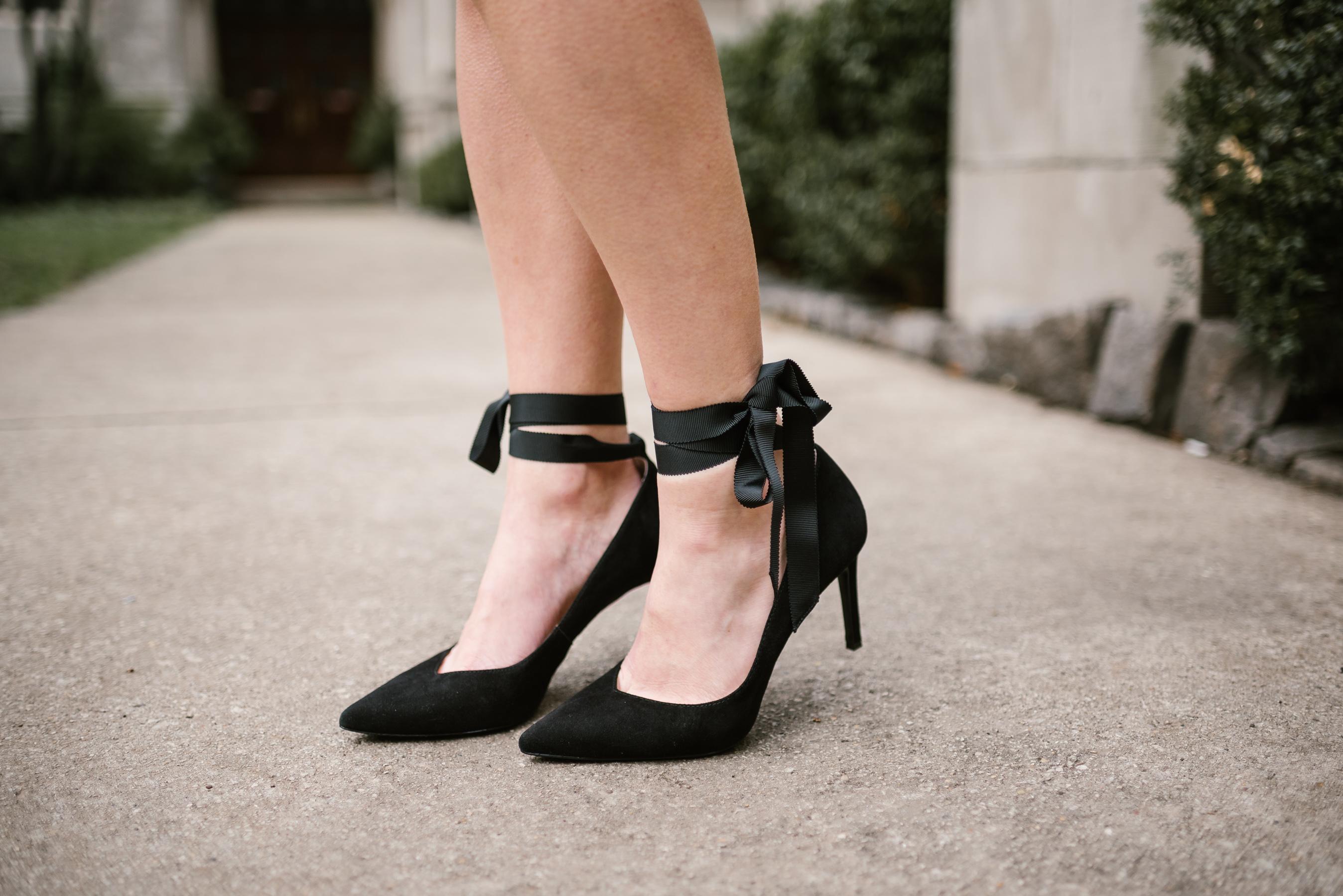 ribbon tie heels