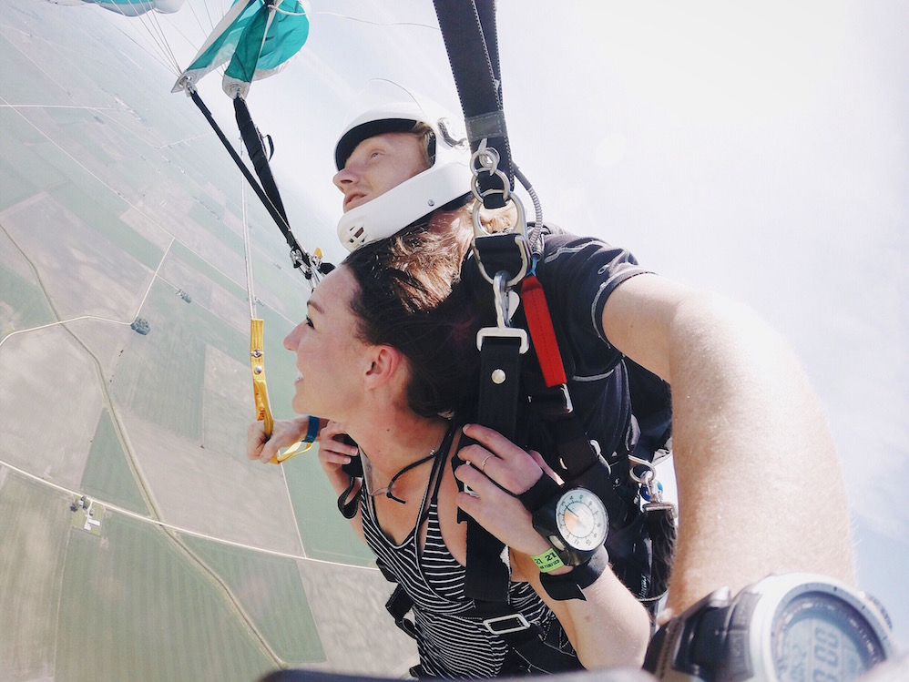 skydiving for the first time