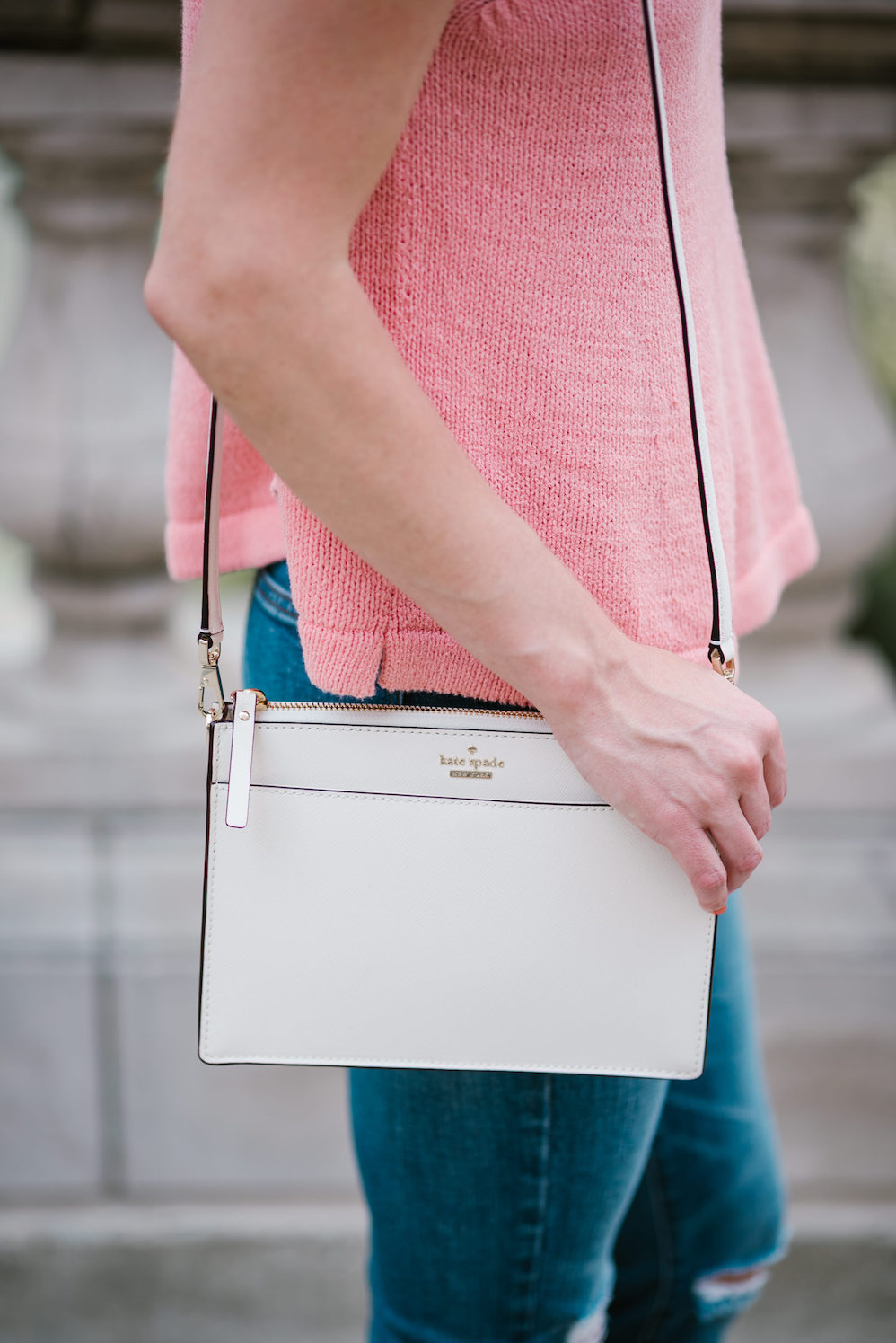 white crossbody bag