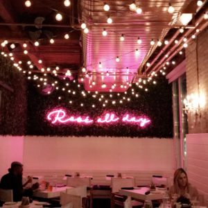 rosé all day neon sign
